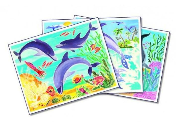 Акварельная раскраска SENTOSPHERE Дельфины - Наборы для творчества