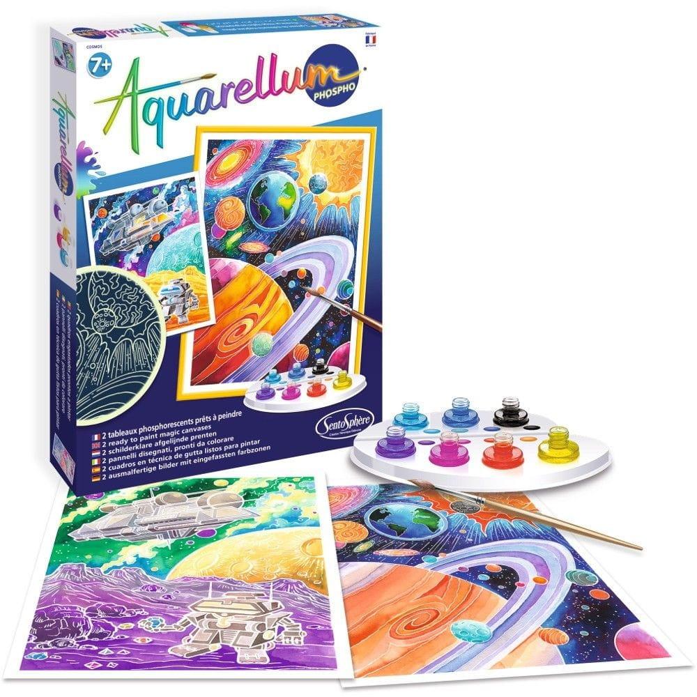 Акварельная раскраска SENTOSPHERE Волшебники (фосфоресцентная) - Наборы для творчества