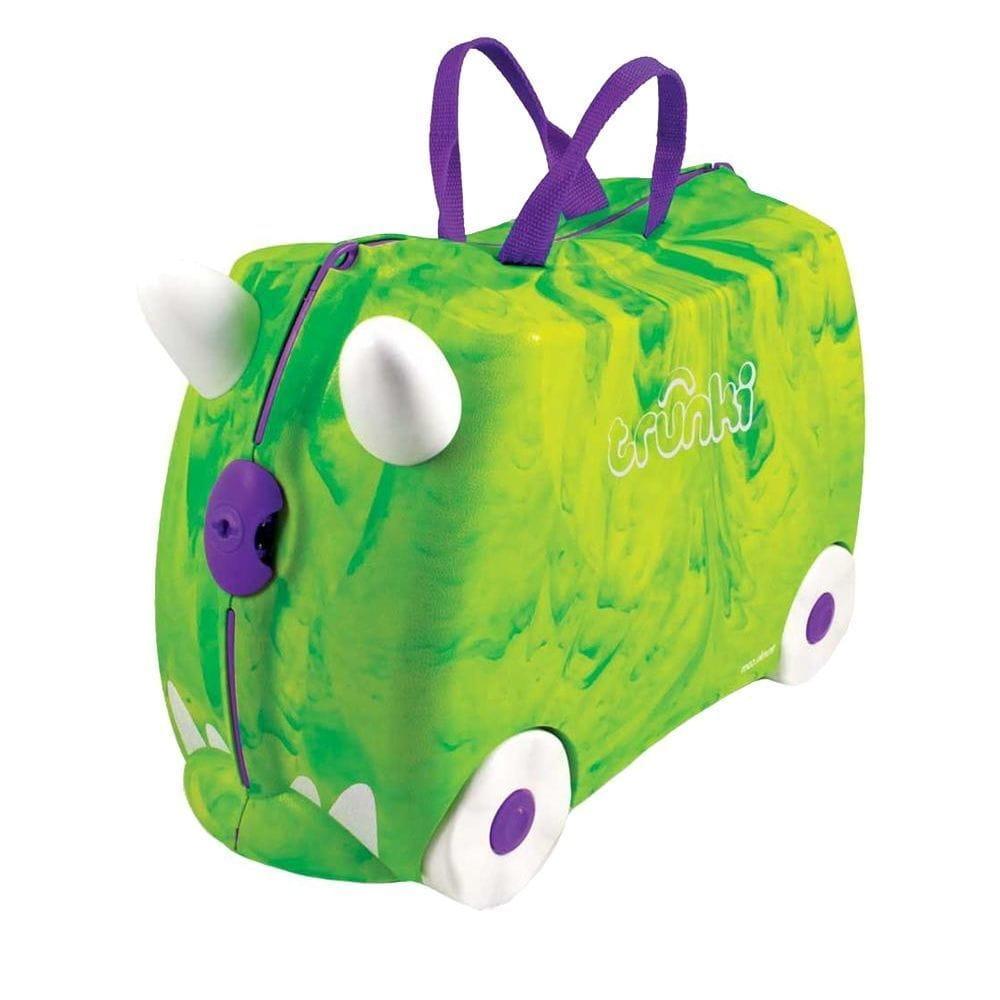 Детский чемоданчик TRUNKI Зеленый динозавр