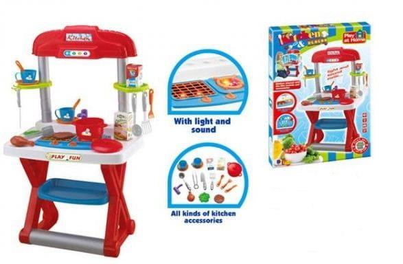 Купить Кухня Edu-Play - сине-красная в интернет магазине игрушек и детских товаров