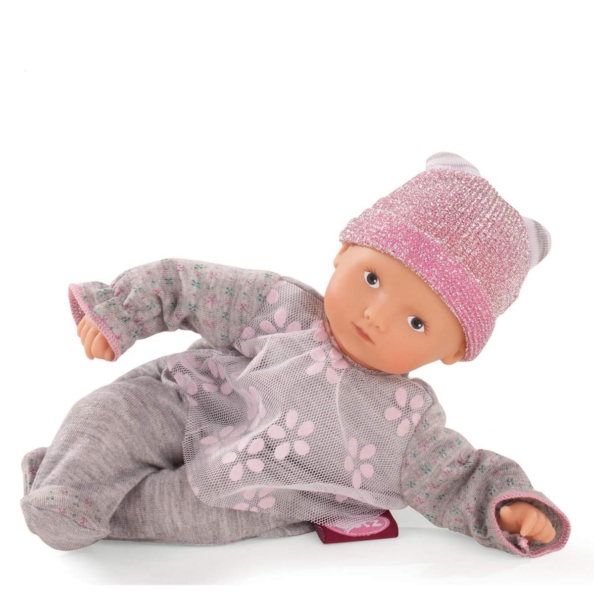 Кукла - пупс GOTZ Мини-Маффин - 22 см (в сером костюмчике с ромашками)