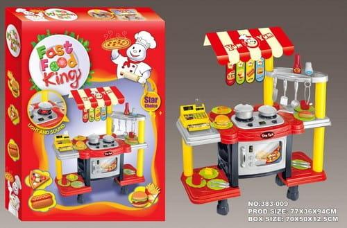 Купить Игровой набор Edu-Play Фаст фуд с кассой - красно-желтый в интернет магазине игрушек и детских товаров
