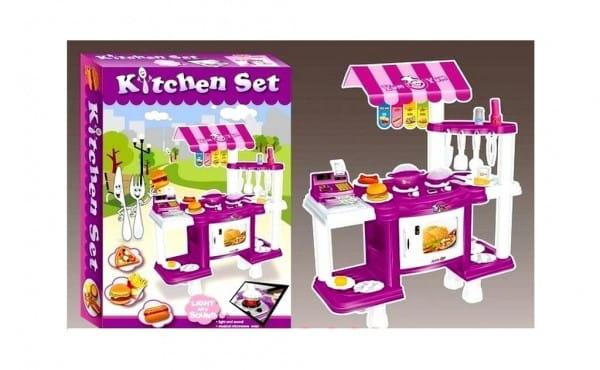 Купить Игровой набор Edu-Play Фаст фуд с кассой - сиреневый в интернет магазине игрушек и детских товаров