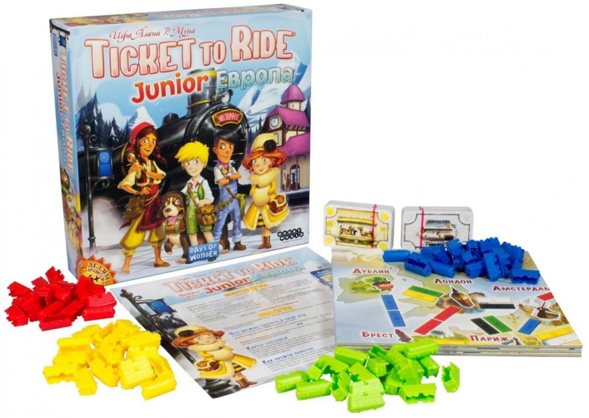 Настольная игра HOBBY WORLD Ticket to Ride Junior - Европа