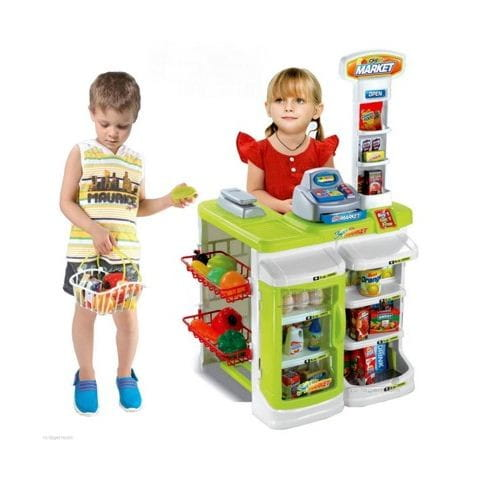 Купить Супермаркет с корзиной Edu-Play - салатовый в интернет магазине игрушек и детских товаров