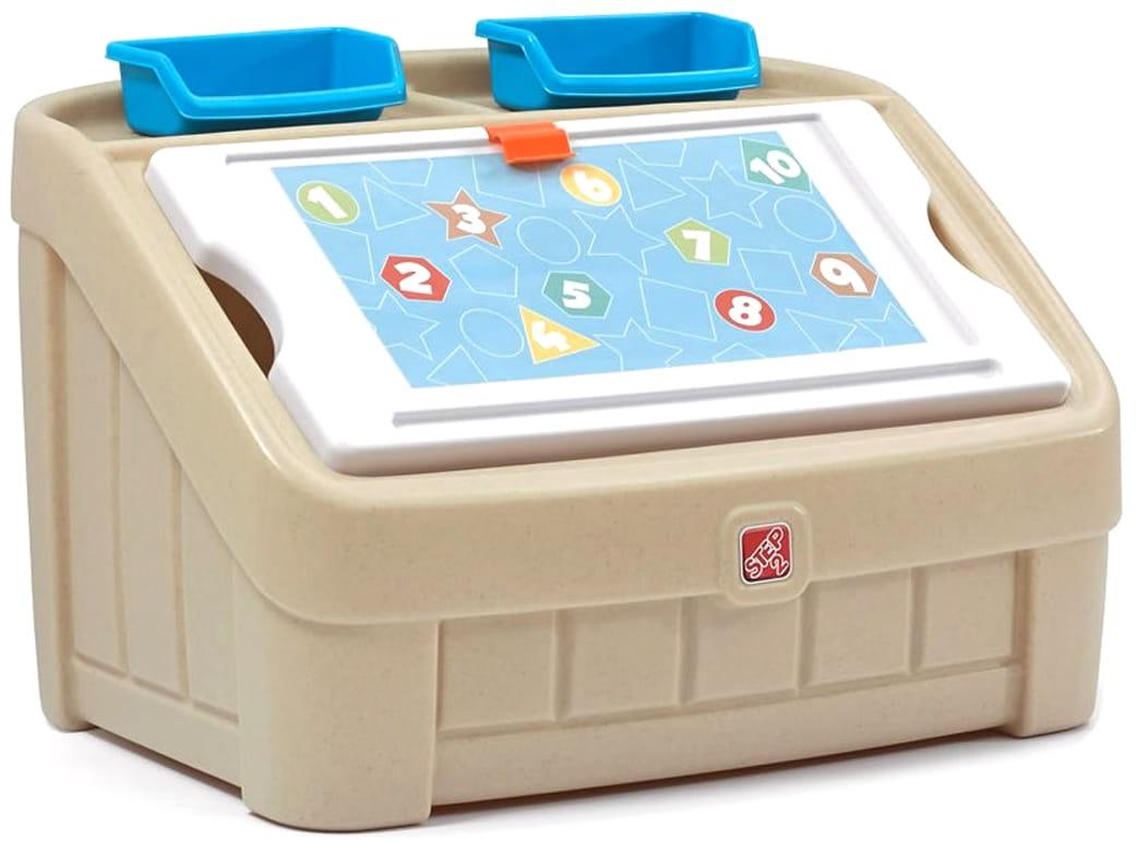 Ящик для игрушек STEP2 Два в одном - синий