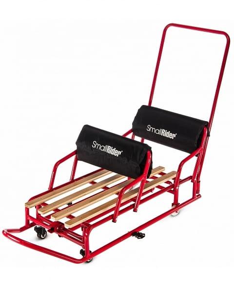 Санки-трансформер для двойни SMALL RIDER Snow Twins 2  красные - Снегокаты и санки