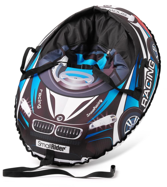 Надувные санки-тюбинг с сиденьем и ремнями SMALL RIDER Snow Cars 3 ВМ  черно-синие - Ватрушки