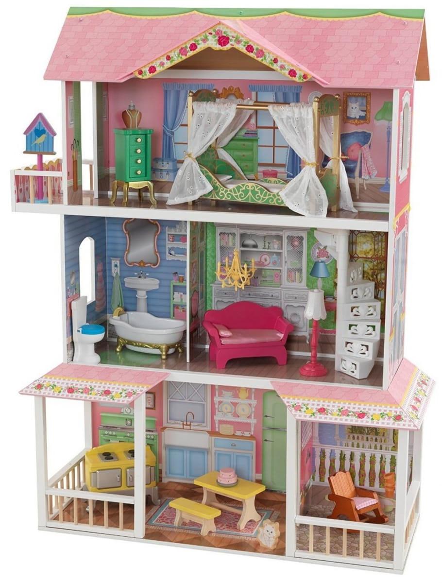Кукольный домик с мебелью KIDKRAFT Sweet Savannah Карамельная Саванна (в подарочной упаковке)