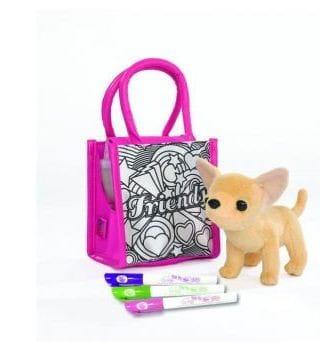 Плюшевая собачка Chi Chi Love Чихуахуа с сумочкой и фломастерами 14 см (Simba)