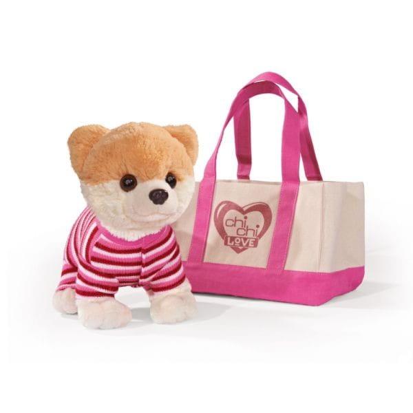 Купить Плюшевая собачка Chi Chi Love Померанский шпиц в костюмчике и сумочке 20 см (Simba) в интернет магазине игрушек и детских товаров