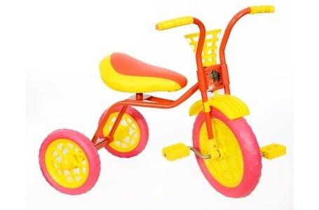 Детский трехколесный велосипед ЗУБРЕНОК  розовый - Велосипеды