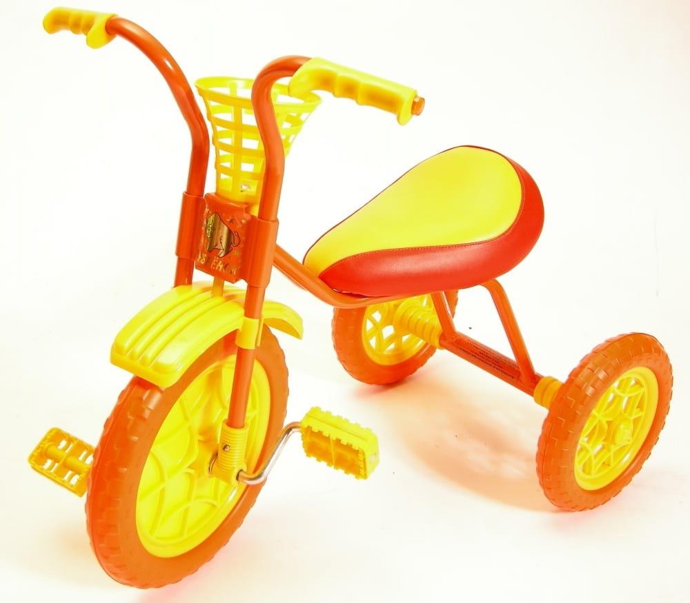 Детский трехколесный велосипед ЗУБРЕНОК  оранжевый - Велосипеды