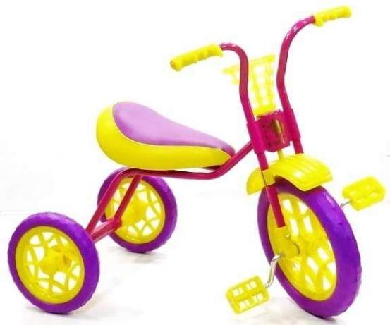 Детский трехколесный велосипед ЗУБРЕНОК  бордовый - Велосипеды