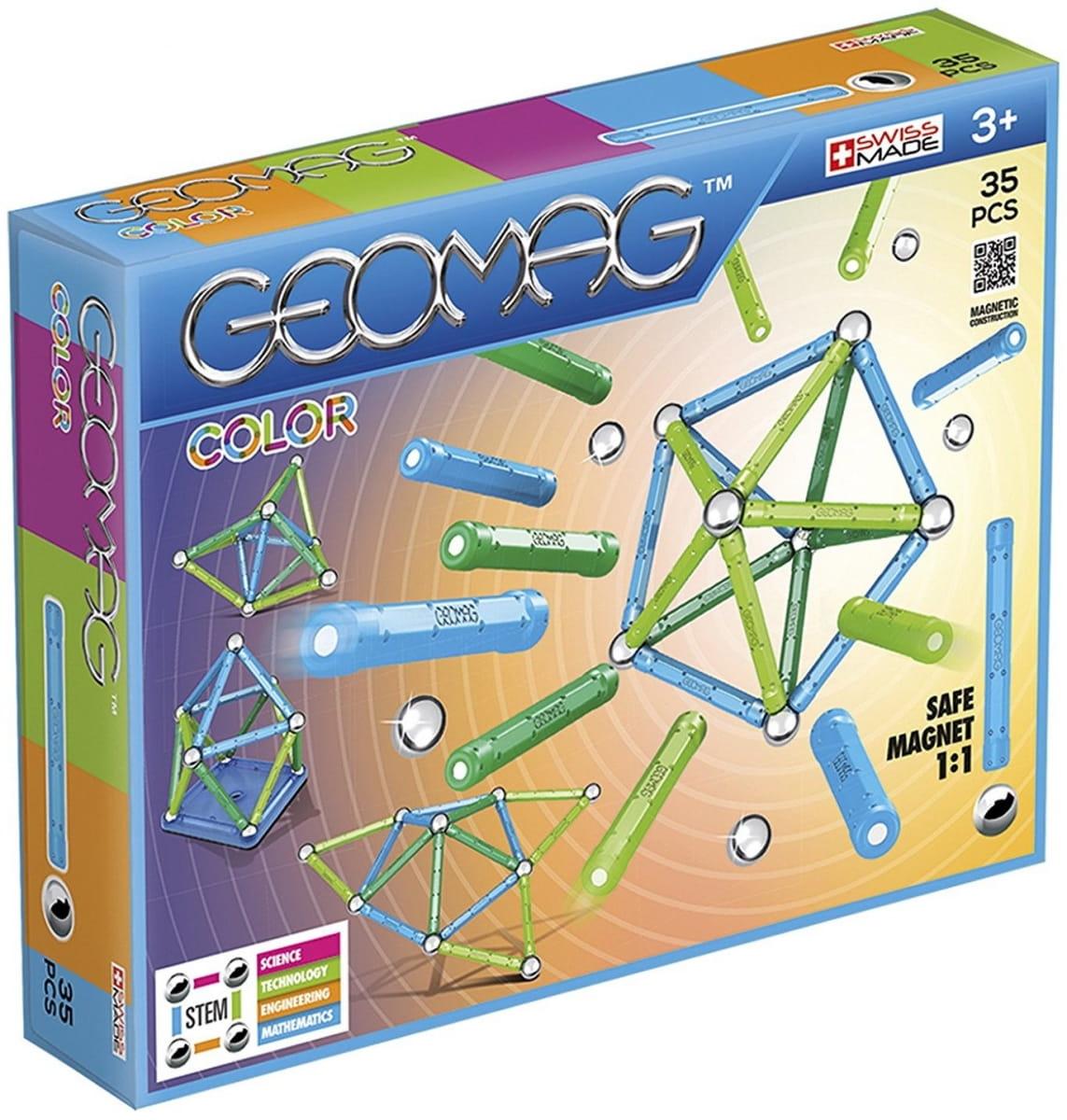 Магнитный конструктор GEOMAG Color - 35 деталей