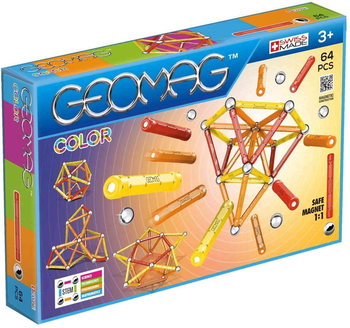 Магнитный конструктор GEOMAG Color - 64 детали