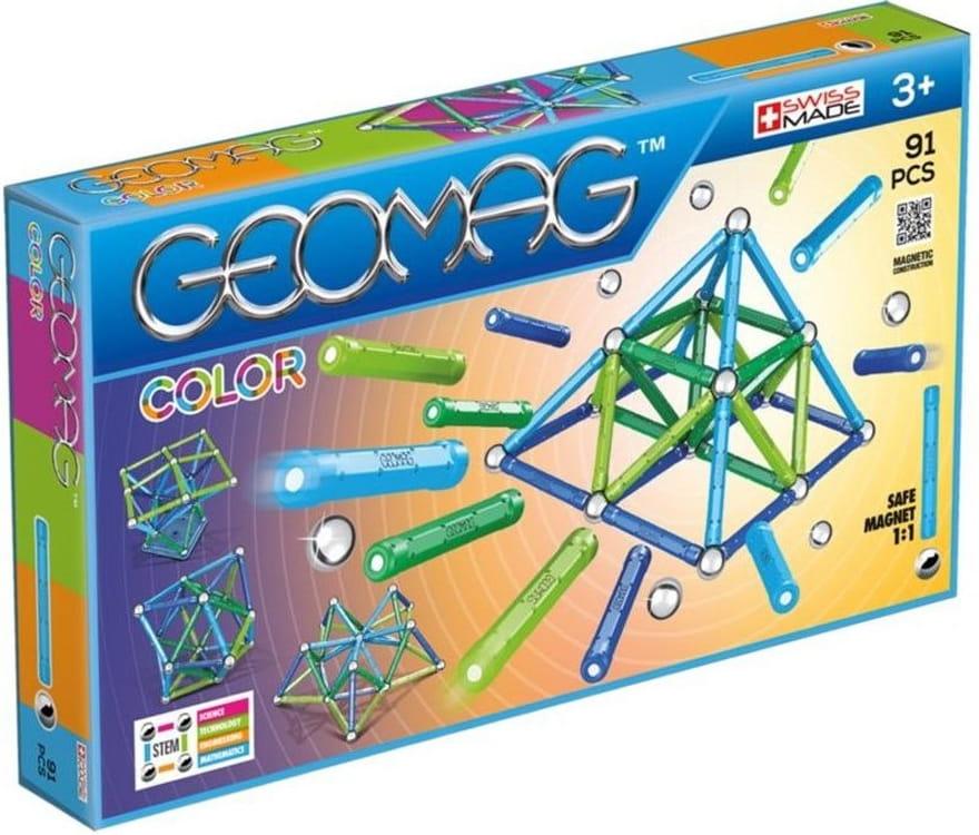 Магнитный конструктор GEOMAG Color - 91 деталь