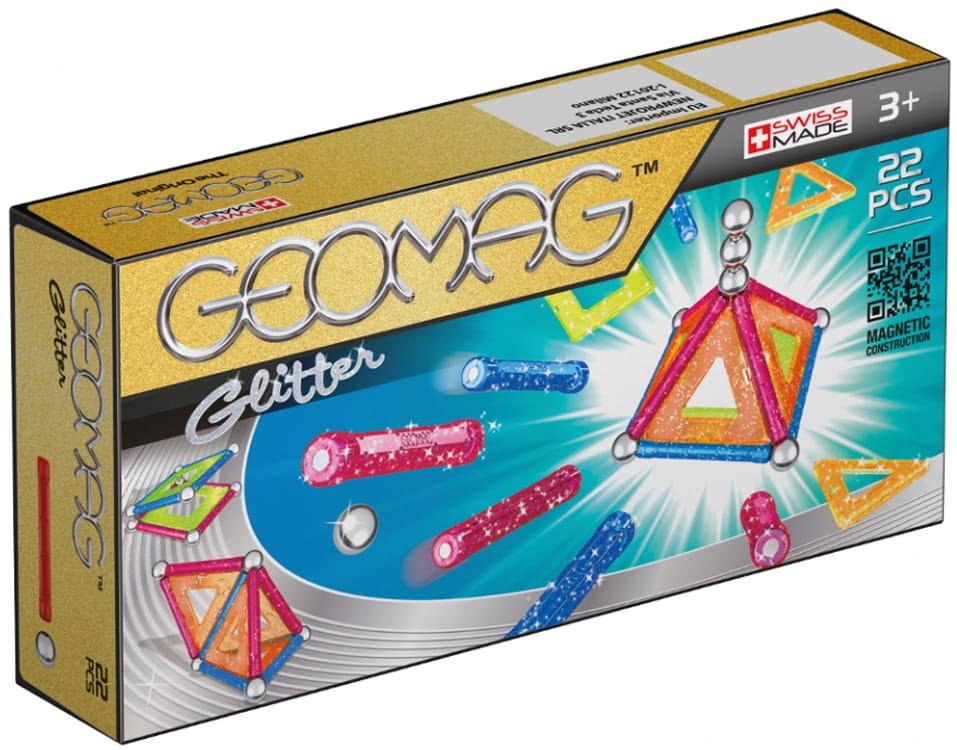 Магнитный конструктор GEOMAG Glitter  22 детали - Магнитные конструкторы