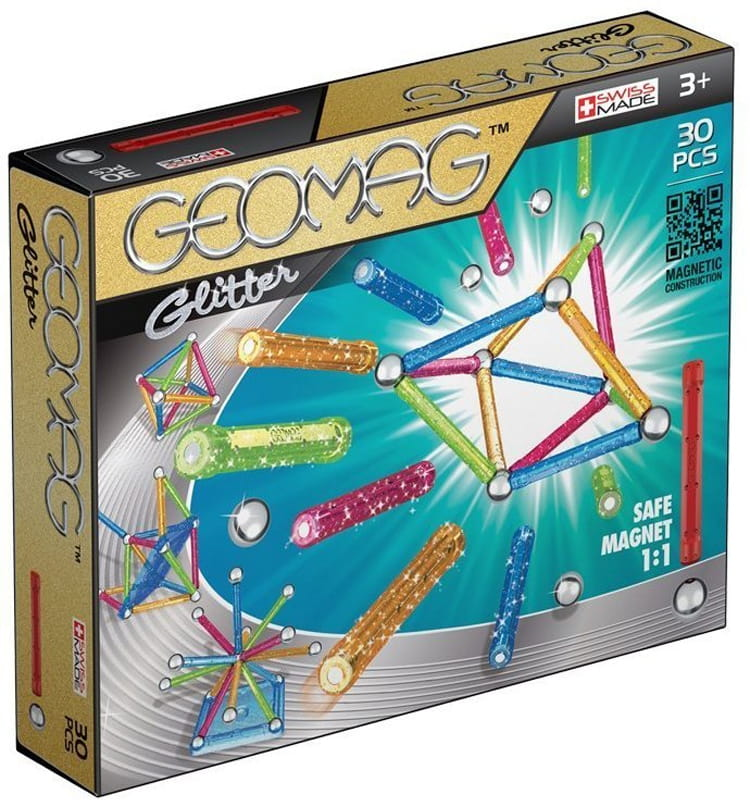 Магнитный конструктор GEOMAG Glitter  30 деталей - Магнитные конструкторы