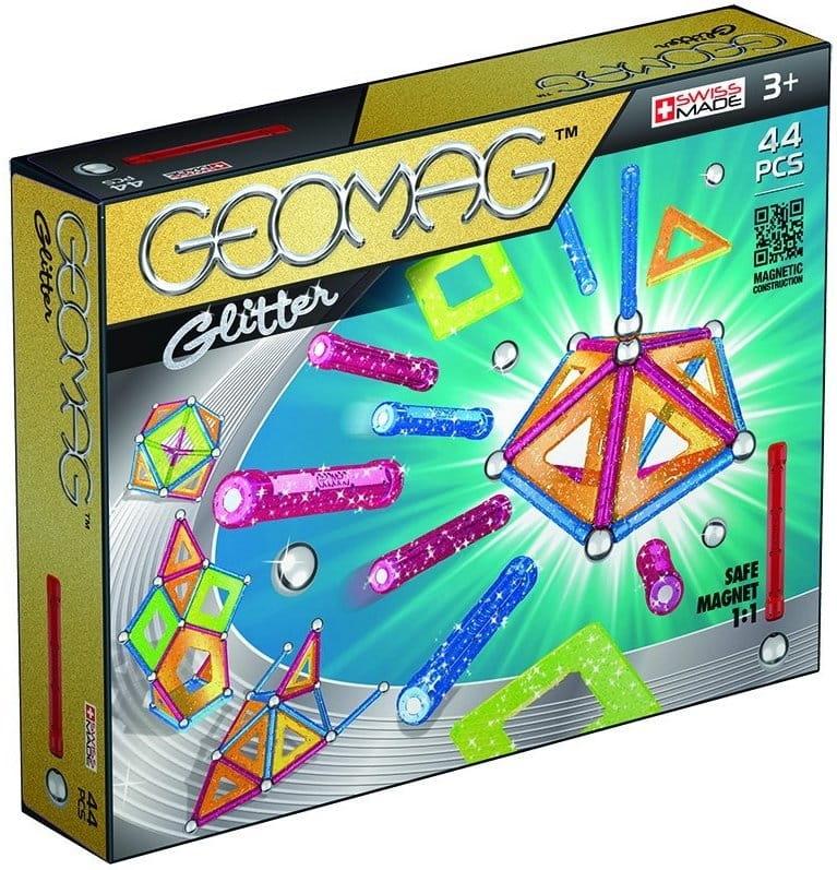Магнитный конструктор GEOMAG Glitter  44 детали - Магнитные конструкторы