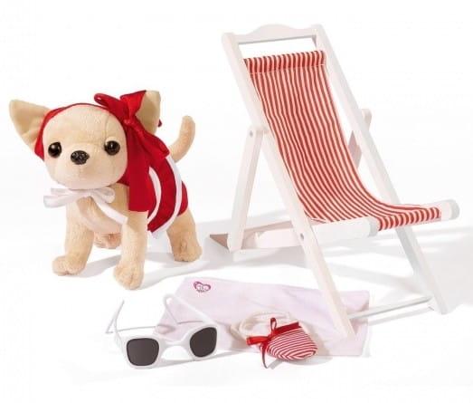 Купить Собачка Chi Chi Love Чихуахуа на пляже 20 см (Simba) в интернет магазине игрушек и детских товаров