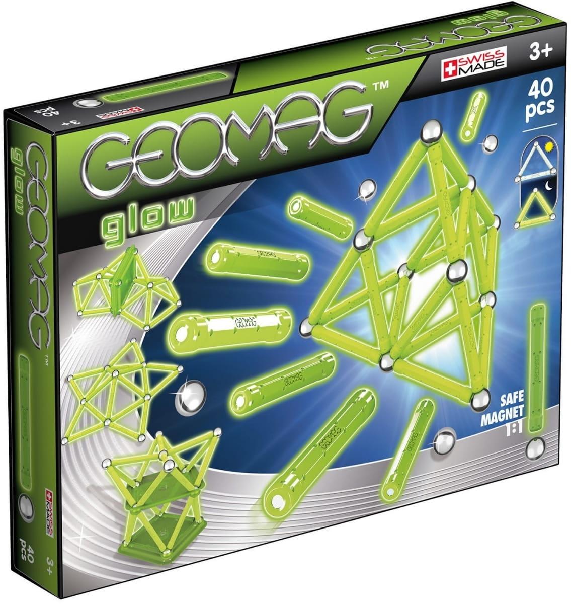 Магнитный конструктор GEOMAG Glow  40 деталей - Магнитные конструкторы