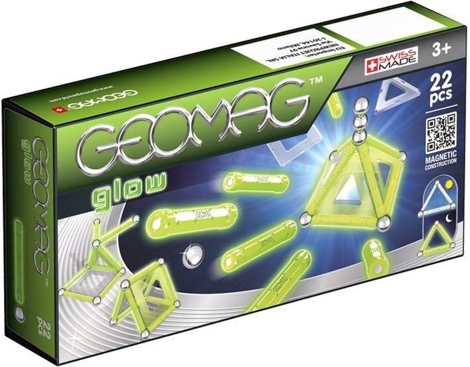 Магнитный конструктор GEOMAG Glow  22 детали - Магнитные конструкторы