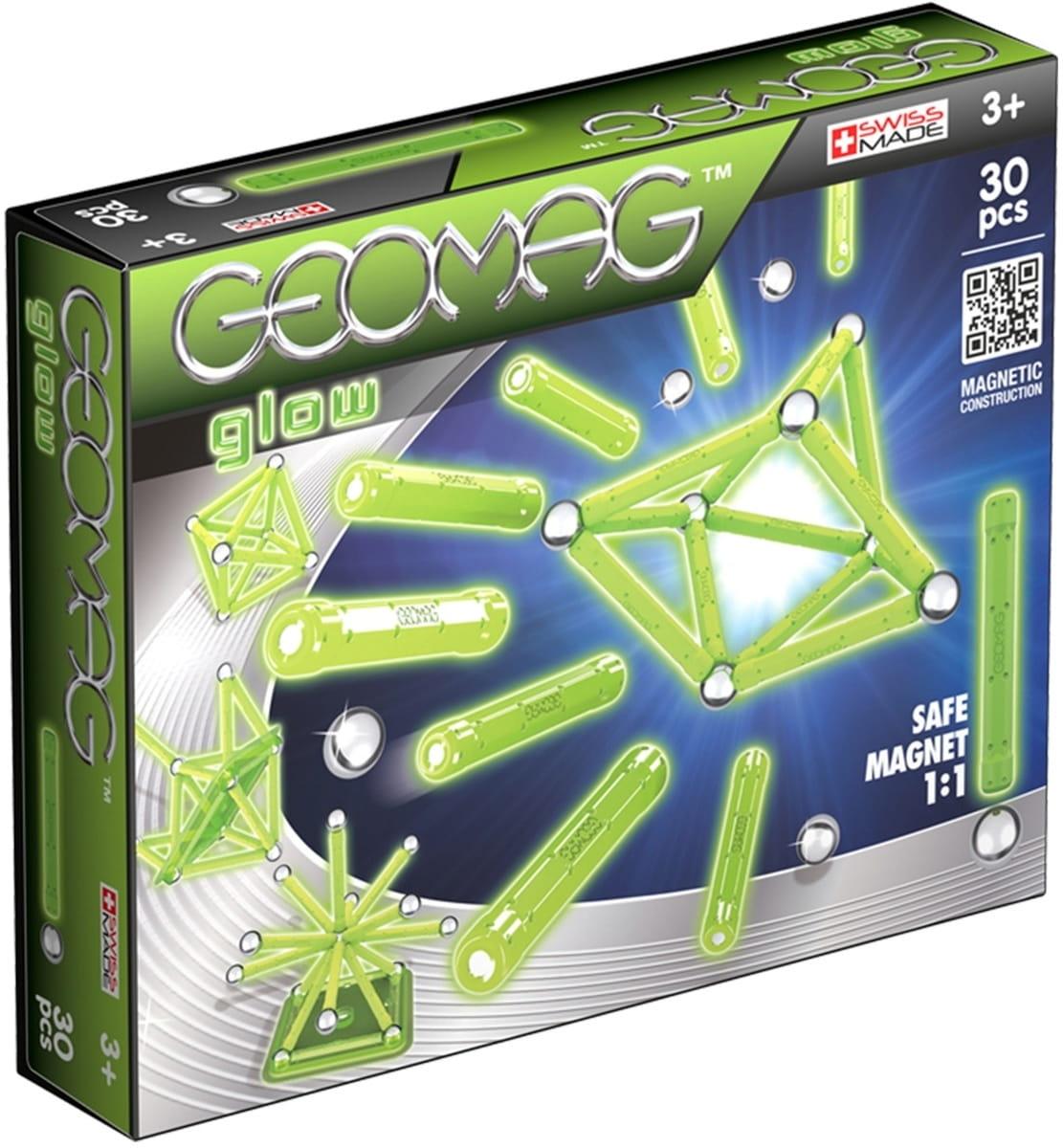 Магнитный конструктор GEOMAG Glow  30 деталей - Магнитные конструкторы