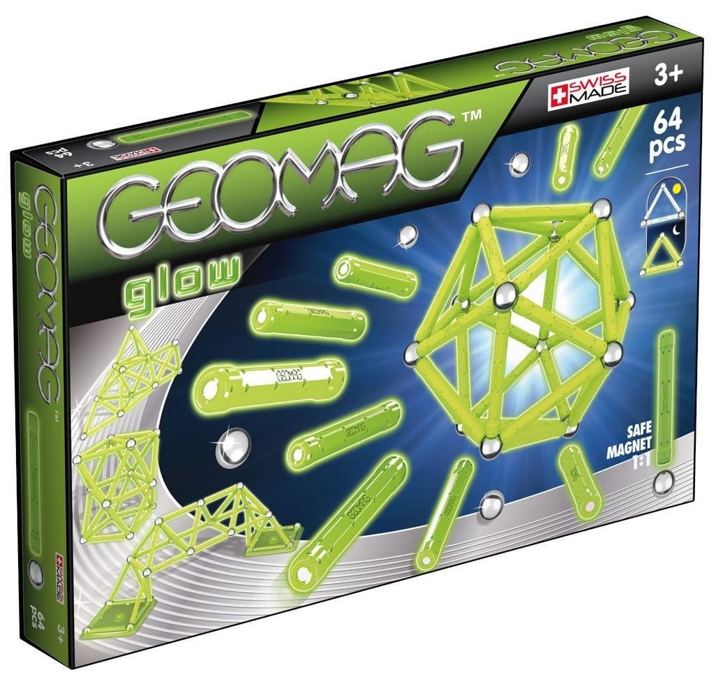 Магнитный конструктор GEOMAG Glow  64 детали - Магнитные конструкторы