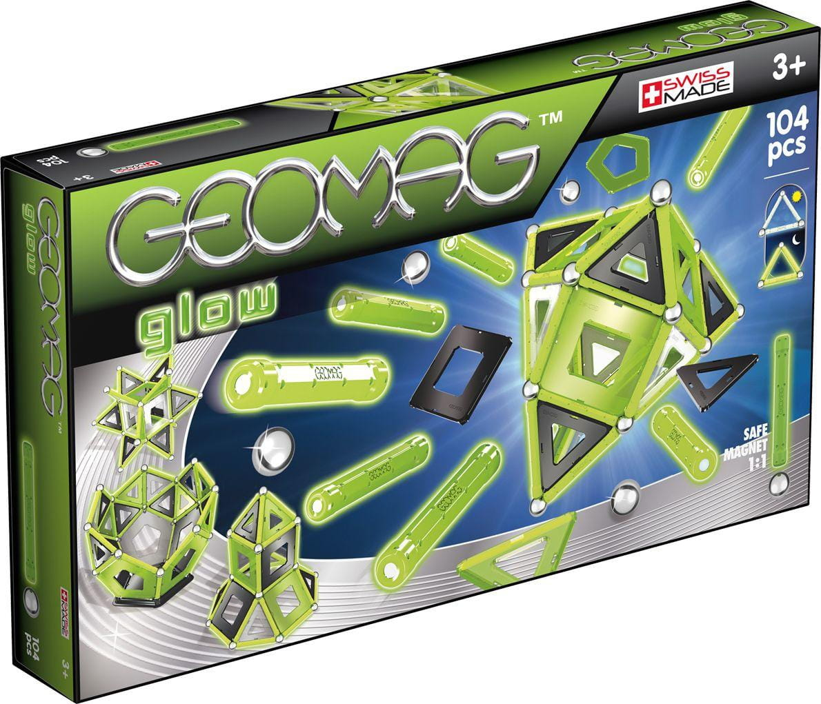 Магнитный конструктор GEOMAG Glow  104 детали - Магнитные конструкторы