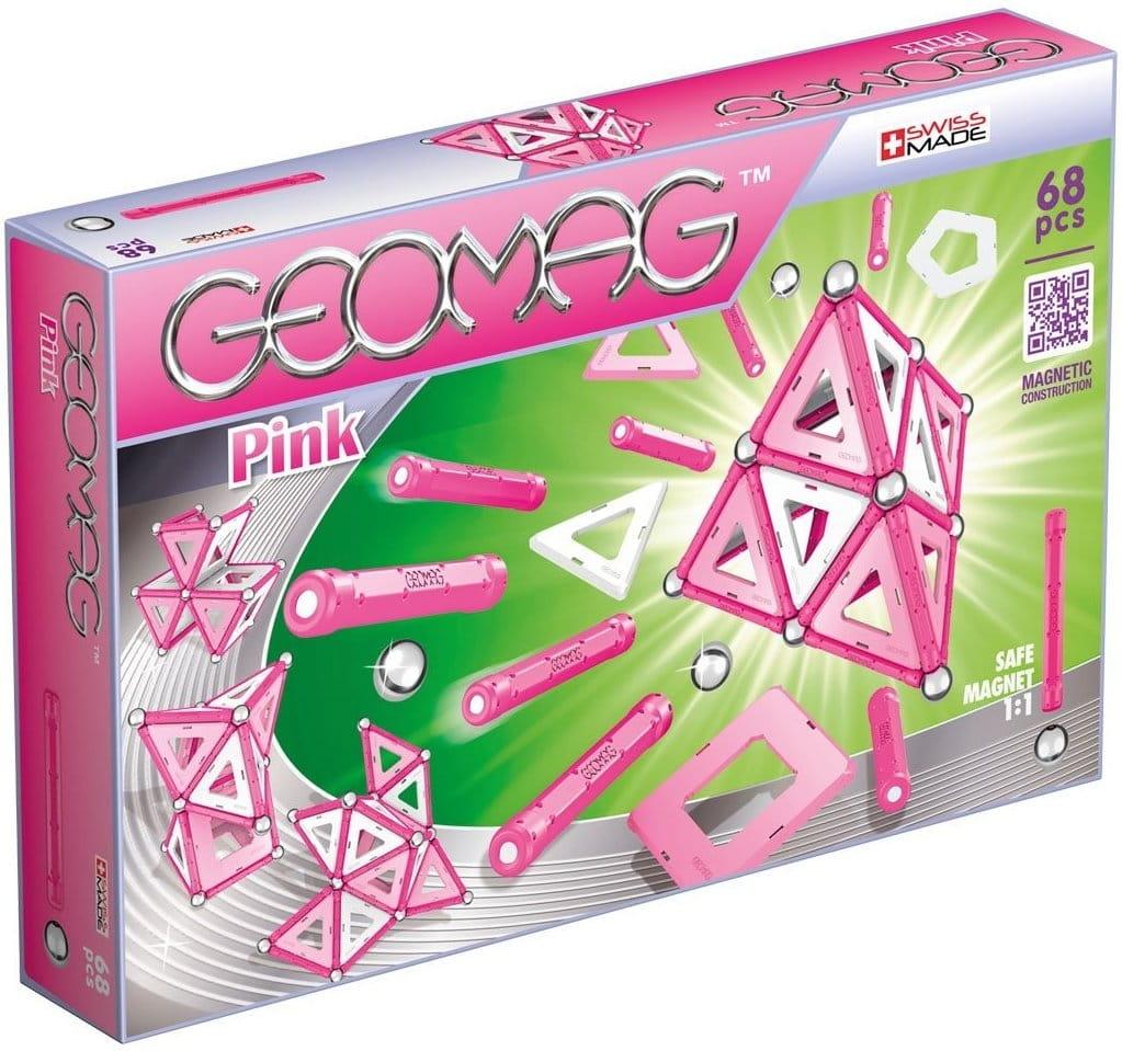 Магнитный конструктор GEOMAG Pink  68 деталей - Магнитные конструкторы