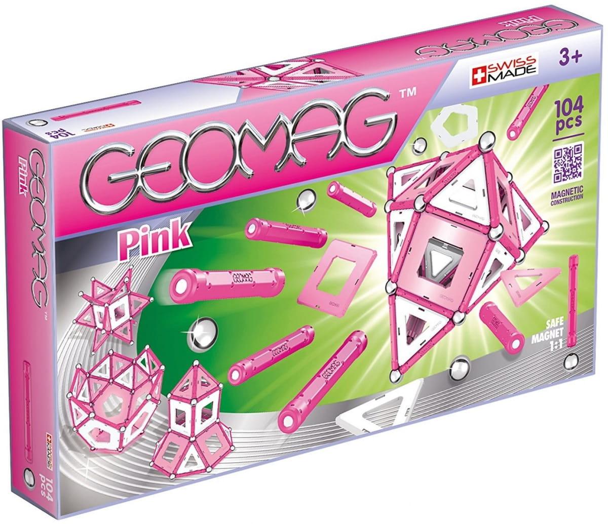Магнитный конструктор GEOMAG Pink  104 детали - Магнитные конструкторы