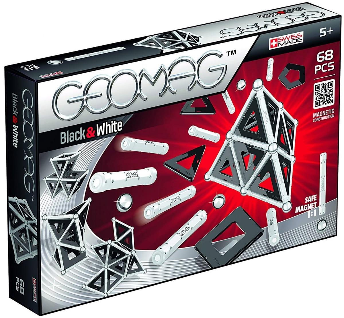 Магнитный конструктор GEOMAG Black and White  68 деталей - Магнитные конструкторы