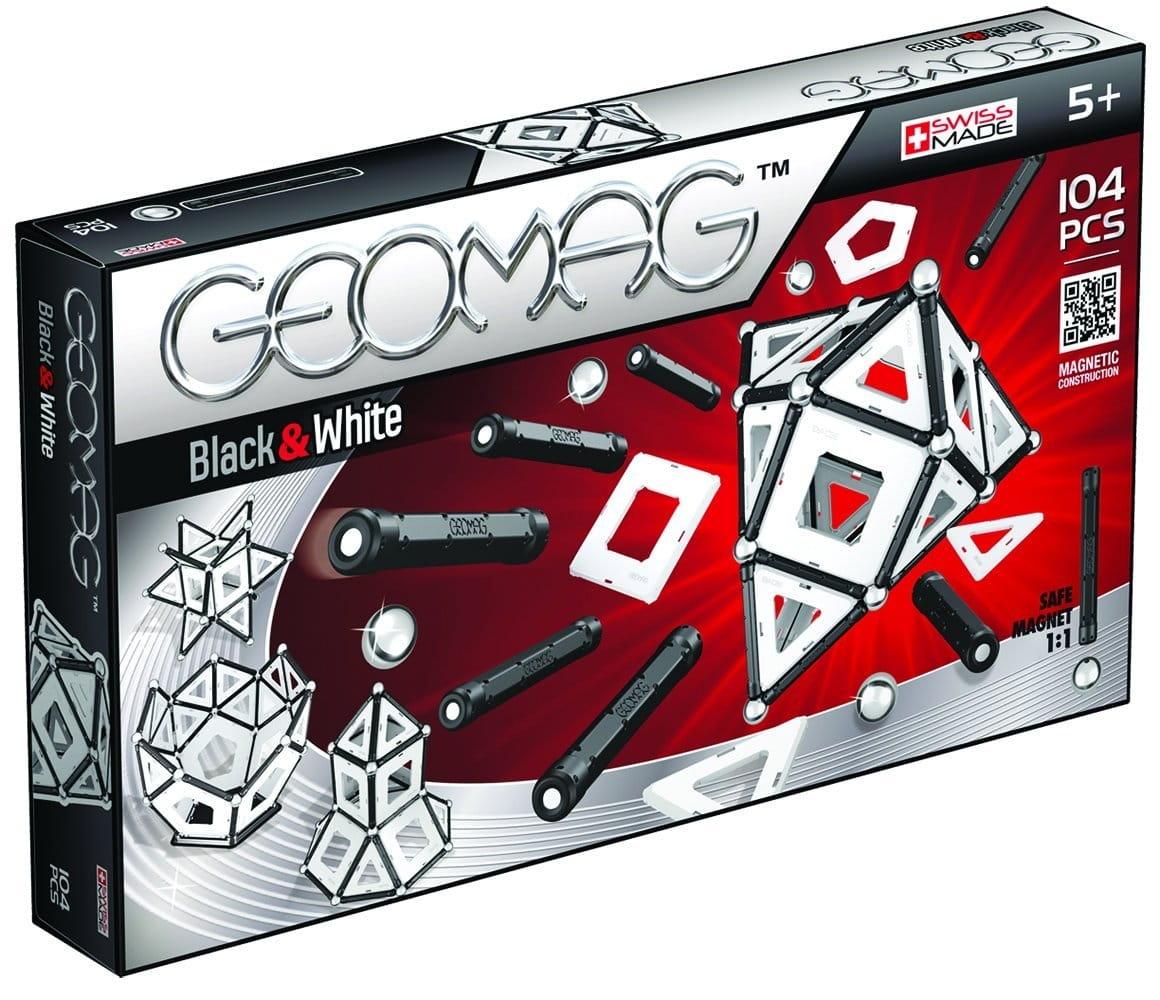 Магнитный конструктор GEOMAG Black and White  104 детали - Магнитные конструкторы
