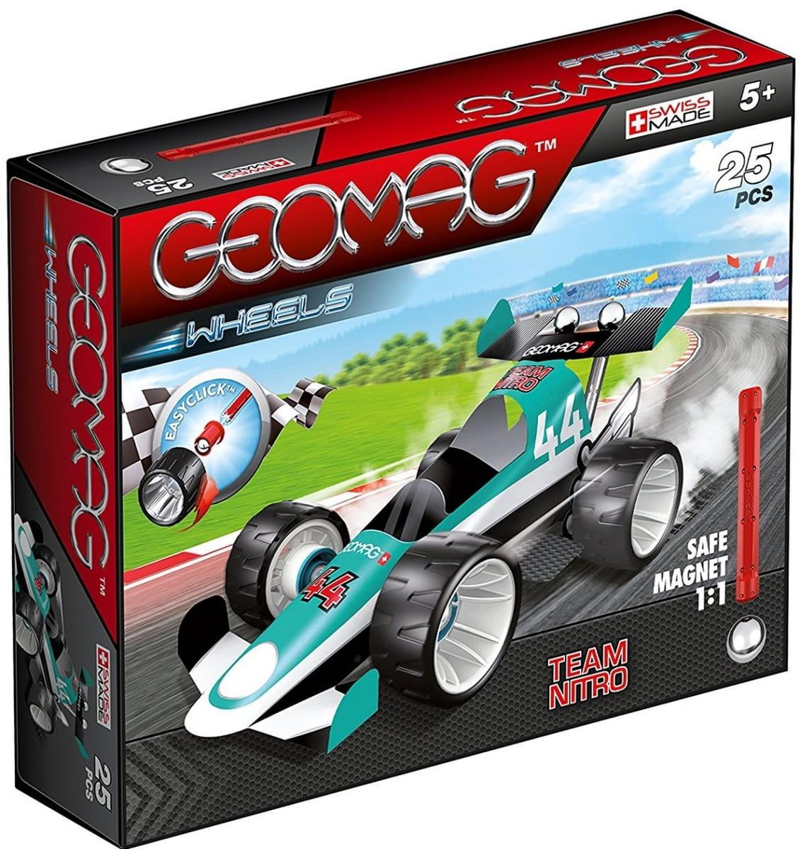 Магнитный конструктор GEOMAG Wheels Гоночная машина  зеленая - Магнитные конструкторы