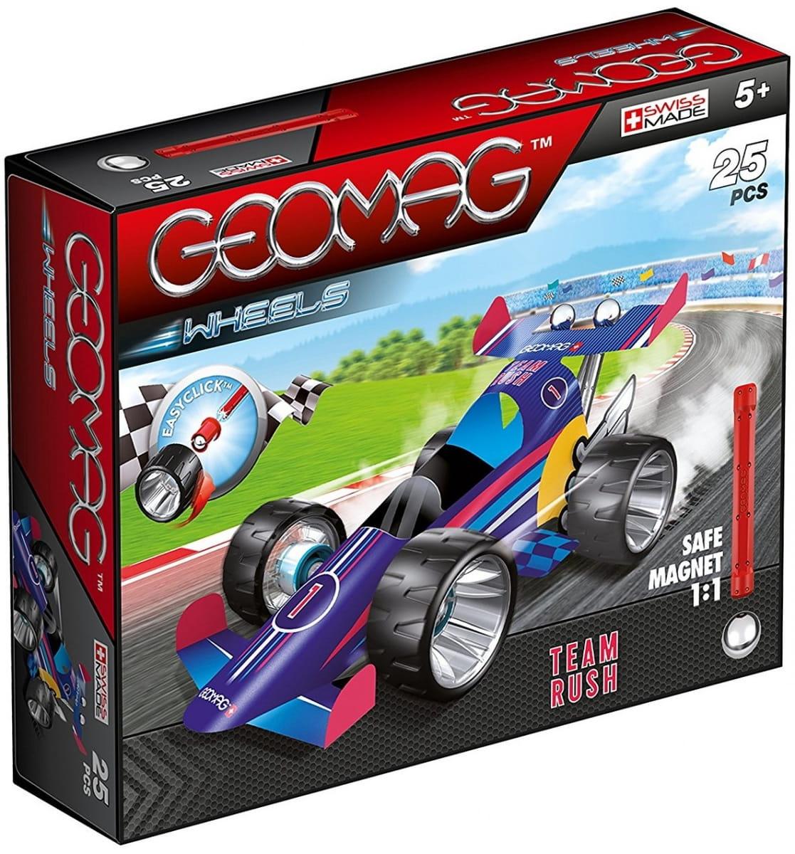 Магнитный конструктор GEOMAG Wheels Гоночная машина  сиреневая - Магнитные конструкторы