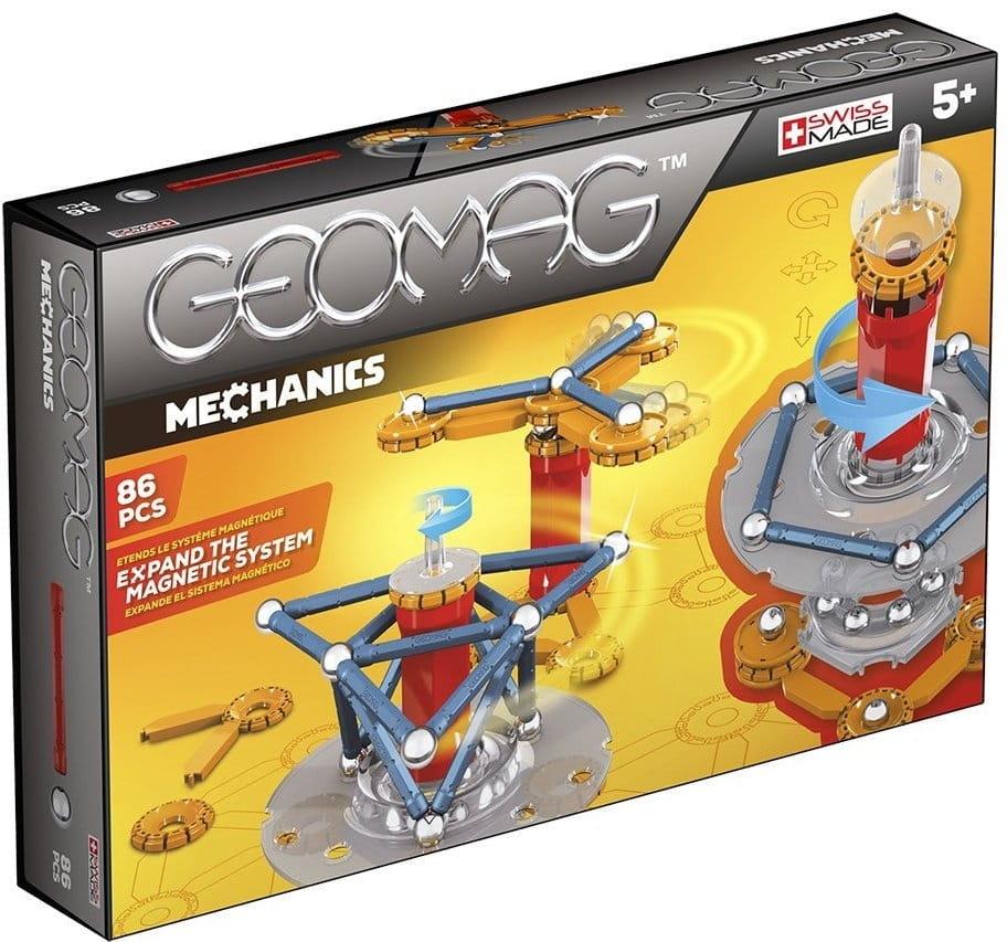 Магнитный конструктор GEOMAG Mechanics  86 деталей - Магнитные конструкторы