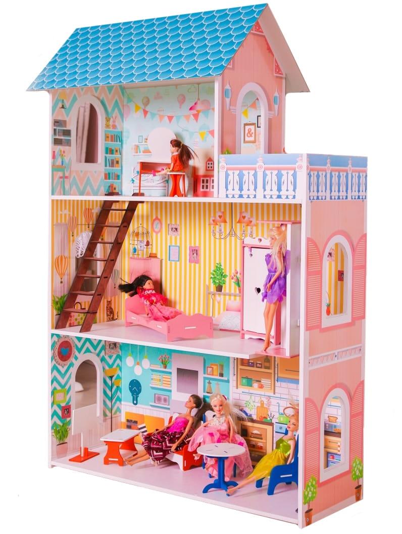 Кукольный домик SUNNYTOY Бирюзовый