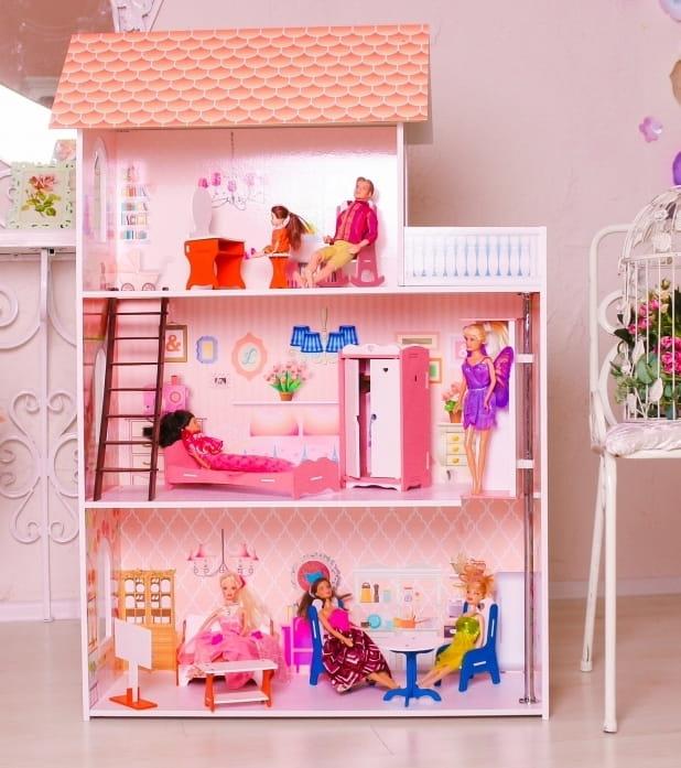 Кукольный домик SUNNYTOY Розовая мечта