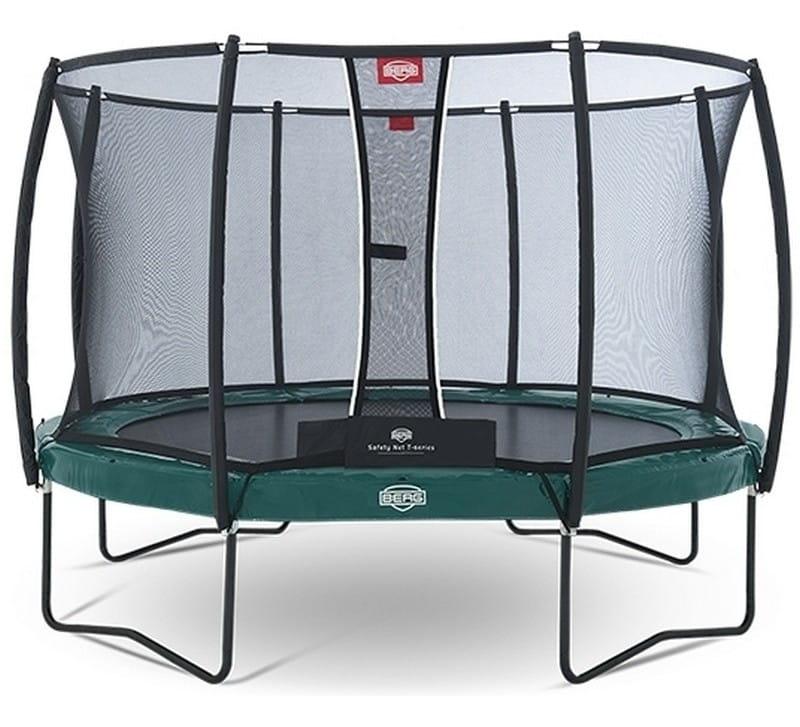 Батут BERG Elite Regular с защитной сеткой Safety Net T-series - 380 см (Green)