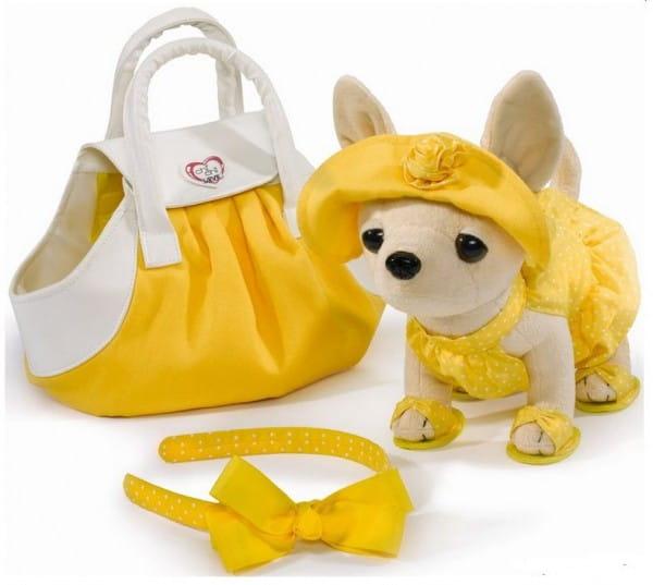 Купить Собачка Chi Chi Love Чихуахуа в платье с сумкой 20 см (Simba) в интернет магазине игрушек и детских товаров