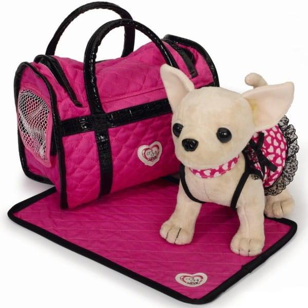 Купить Собачка Chi Chi Love Чихуахуа в платье, светящемся в темноте 20 см (Simba) в интернет магазине игрушек и детских товаров