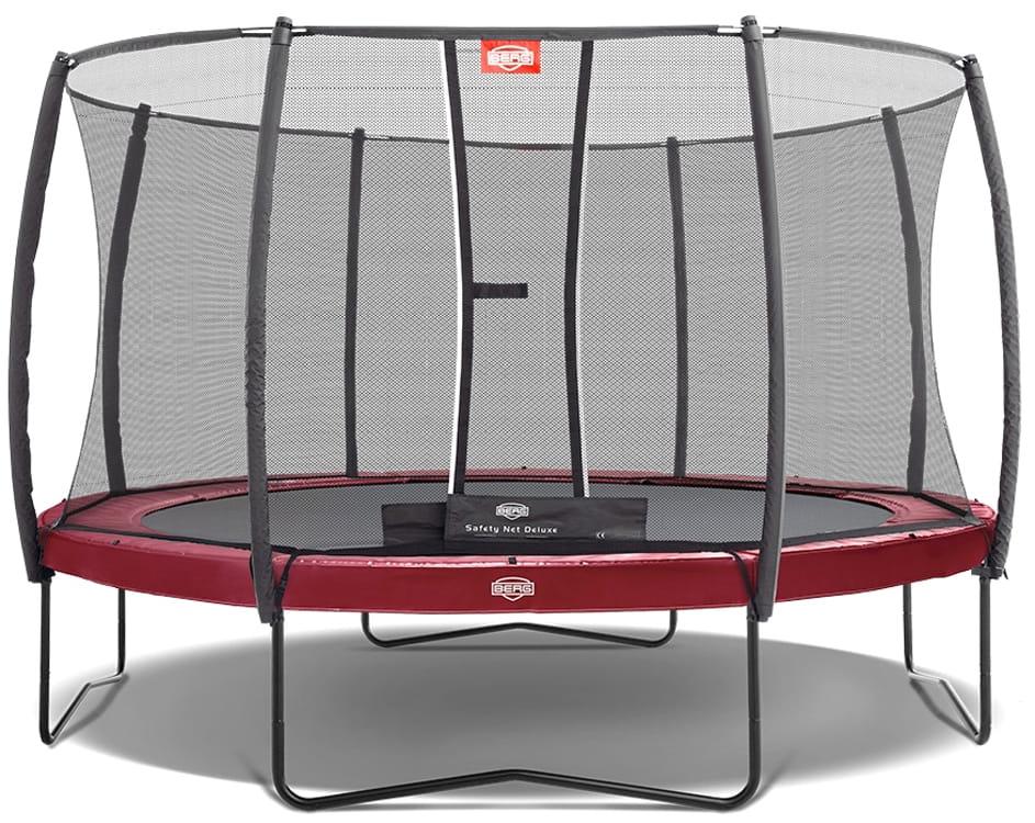 Батут BERG Elite с защитной сеткой Safety Net Deluxe - 430 см (Red)