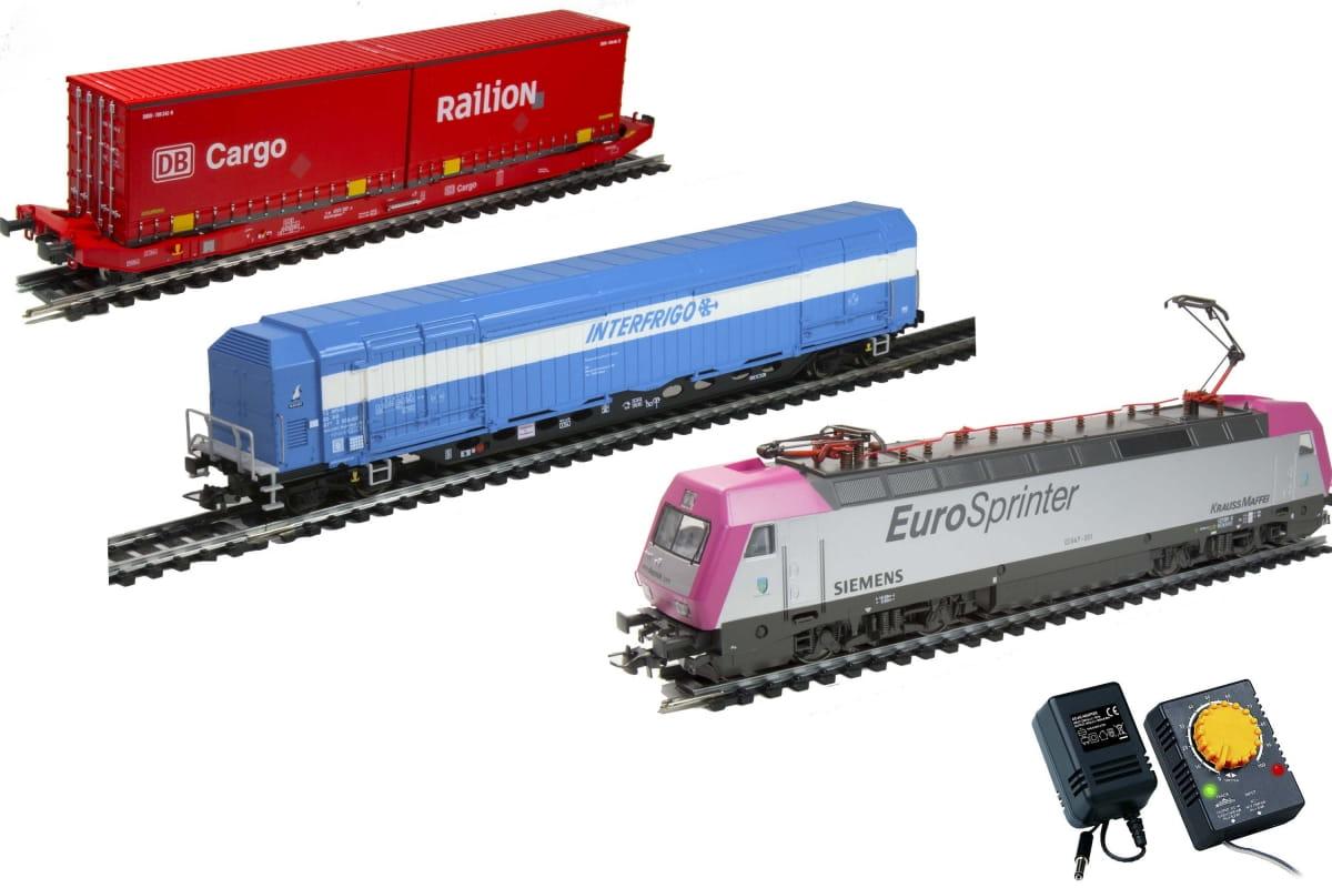 Электровоз MEHANO Dispolok с вагонами - Железные дороги