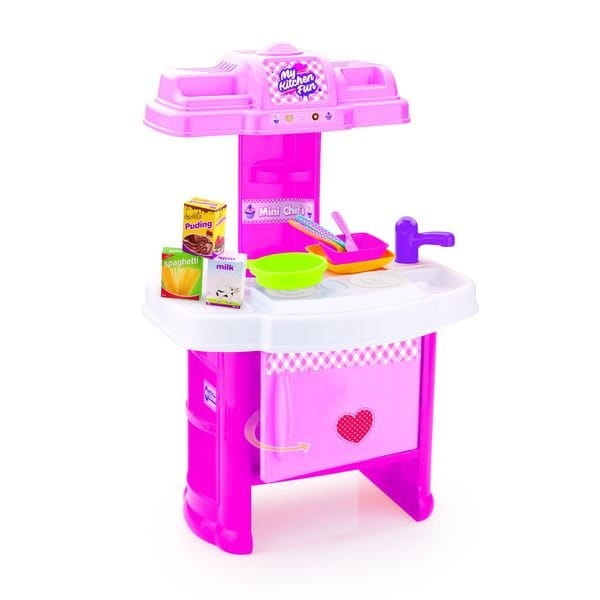 Детская мини кухня DOLU Шеф-повар - 19 аксессуаров
