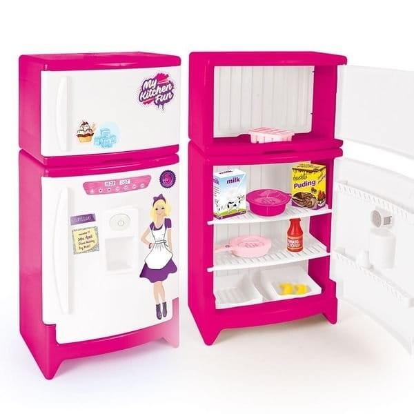 Холодильник DOLU с аксессуарами (со звуком) - Все для юной хозяйки