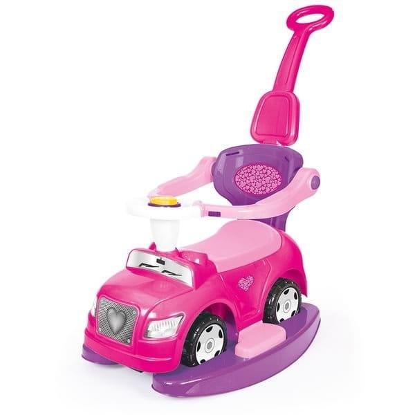 Автомобиль - каталка DOLU 4 в 1 - розовый