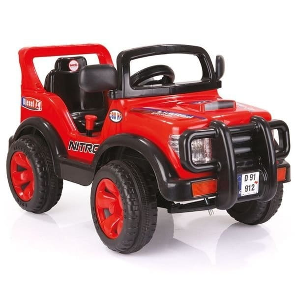 Электромобиль DOLU Найтро - красно-черный (на аккумуляторе 6V)