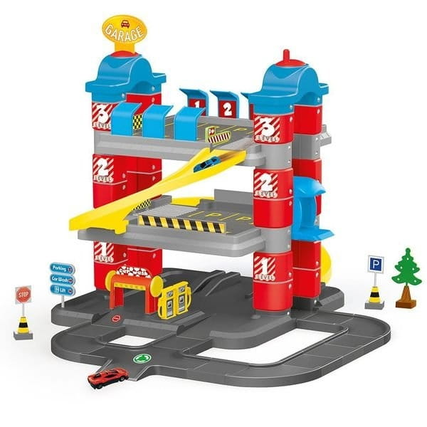 Игровой набор DOLU Паркинг Гигант с автомобилями и лифтом (3 уровня)