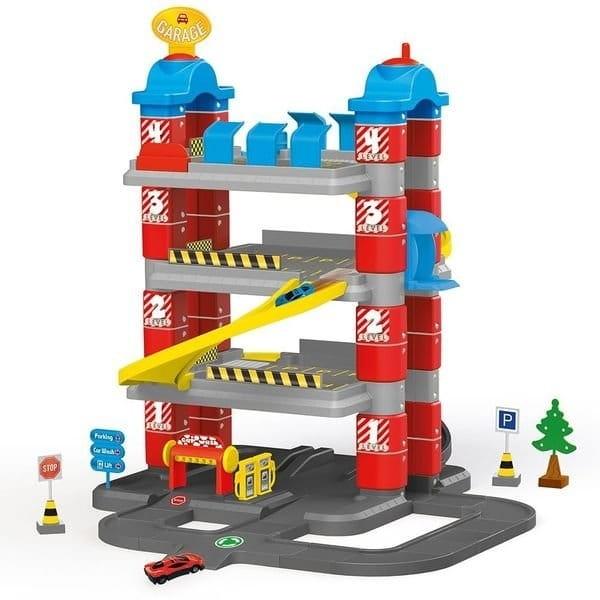 Игровой набор DOLU Паркинг Гигант с автомобилями и лифтом (4 уровня)